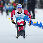 Prince George, B.-C., 16 February/2019  - Derek Zaplotinsky competes in the men's sitting middle distance biathlon on day 01 of the 2019 World Para Nordic skiing Championships in Prince George, B.C. Photo Bob Frid/Canadian Paralympic Committee.
