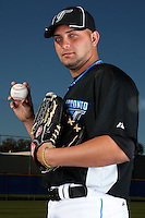 March 1, 2010:  Pitcher Reidier Gonzalez (40) of the Toronto Blue Jays poses for a photo during media day at Englebert Complex in Dunedin, FL.  Photo By Mike Janes/Four Seam Images