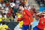 Alvaro Morata of Spain during the friendly match between Spain and Colombia at Nueva Condomina Stadium in Murcia, jun 07, 2017. Spain. (ALTERPHOTOS/Rodrigo Jimenez)