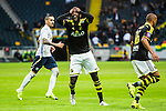 ***BETALBILD***  <br /> Stockholm 2015-07-30 Fotboll Kval Uefa Europa League  AIK - Atromitos FC :  <br /> AIK:s Henok Goitom reagerar efter en n&auml;rkamp under matchen mellan AIK och Atromitos FC <br /> (Foto: Kenta J&ouml;nsson) Nyckelord:  AIK Gnaget Tele2 Arena UEFA Europa League Kval Kvalmatch Atromitos FC Grekland Greece arg f&ouml;rbannad ilsk ilsken sur tjurig angry depp besviken besvikelse sorg ledsen deppig nedst&auml;md uppgiven sad disappointment disappointed dejected