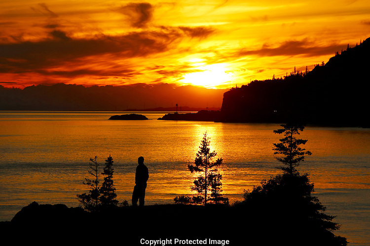 Beluga Point Turnagain Arm Sunset near Anchorage Alaska