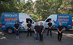 Absolute Drain employees, Tawny Kline, Bobby Reedholm, owner Laura Castonguay, owner Mickey Castonguay, Mickey Castonguay II and Ian Castonguay in Reno, Nevada on Thursday, August 10, 2017.