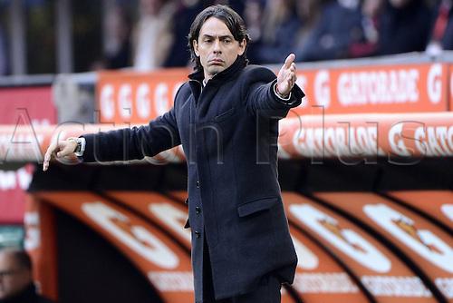 18.01.2015. Milan, Italy. Serie A football league. AC Milan verus Atalanta.  Filippo Inzaghi Milan