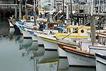 Boats dock at Fisheman's Wharf in San Francisco