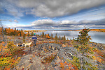 Autumn view of Yellowknife Bay from Joliffe Island.