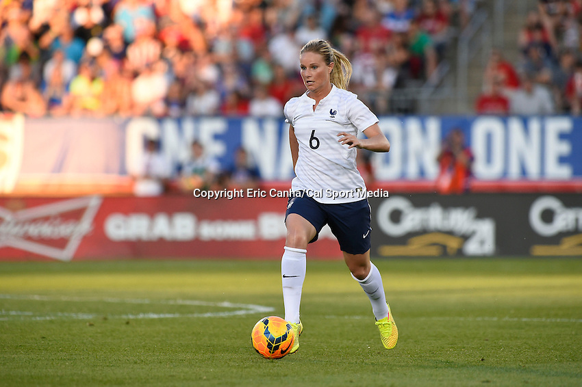 June 19, 2014 - East Hartford, Conn. U.S. - France's Amandine Henry (6) in game action during the USA Women's Soccer friendly game between USA and France held at Rentschler Field in East Hartford Connecticut. The match ended with a 2-2 tied score. Eric Canha/CSM