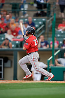 Pawtucket Red Sox Chad De La Guerra (23) at bat during an International League game against the Rochester Red Wings on June 28, 2019 at Frontier Field in Rochester, New York.  Pawtucket defeated Rochester 8-5.  (Mike Janes/Four Seam Images)