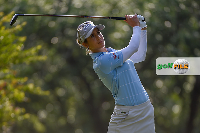 Azahara Munoz (ESP) watches her tee shot on 11 during round 2 of the 2019 US Women's Open, Charleston Country Club, Charleston, South Carolina,  USA. 5/31/2019.<br /> Picture: Golffile | Ken Murray<br /> <br /> All photo usage must carry mandatory copyright credit (© Golffile | Ken Murray)