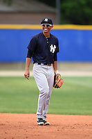 New York Yankees Gosuke Katoh (29) during a minor league spring training game against the Toronto Blue Jays on March 24, 2015 at the Englebert Complex in Dunedin, Florida.  (Mike Janes/Four Seam Images)