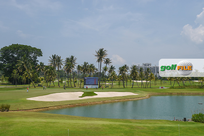 A long view of the green on 15 during Rd 1 of the Asia-Pacific Amateur Championship, Sentosa Golf Club, Singapore. 10/4/2018.<br /> Picture: Golffile | Ken Murray<br /> <br /> <br /> All photo usage must carry mandatory copyright credit (© Golffile | Ken Murray)