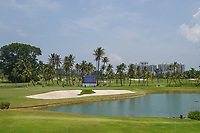 A long view of the green on 15 during Rd 1 of the Asia-Pacific Amateur Championship, Sentosa Golf Club, Singapore. 10/4/2018.<br /> Picture: Golffile | Ken Murray<br /> <br /> <br /> All photo usage must carry mandatory copyright credit (&copy; Golffile | Ken Murray)