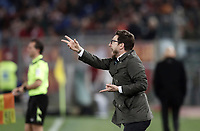 Calcio, Serie A: Roma, stadio Olimpico, 19 marzo, 2017<br /> Sassuolo's coach Eusebio Di Francesco gestures to his players during the Italian Serie A football match between Roma and Sassuolo at Rome's Olympic stadium, March 19, 2017<br /> UPDATE IMAGES PRESS/Isabella Bonotto