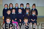 FIRST DAY: The Junior infants of St Joseph's NS, Bouleenshere, Ballyheigue who started school this year were Shane O'Connell, Dylan Casey, Daithi O Fuarain, Erica Moriarty, Daniel O'Loughlin, Jade Daughton, Aedin Lucid, Tony Browne-Greaney, Sarah Kearney, Niall Griffin, Jessica Grady, Peter Fitzgerald and Kayla Dee-Hussey.   Copyright Kerry's Eye 2008