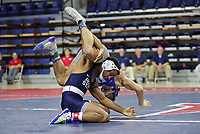 PHILADELPHIA, PA - NOVEMBER 18: Mark Hall of the Penn State Nittany Lions wrestles during the 174 pound championship match at the Keystone Classic on November 18, 2018 at The Palestra on the campus of the University of Pennsylvania in Philadelphia, Pennsylvania. (Photo by Hunter Martin/Getty Images) *** Local Caption *** Mark Hall