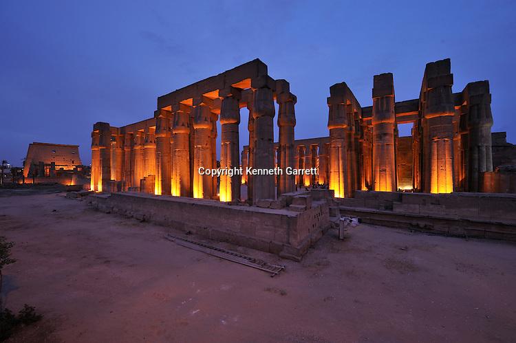 Zahi Hawass Secret Egypt Travel Guide; Egypt; archaeology; Luxor; Luxor Temple, Solar Courtyard, Amenhotep III, New Kingdom