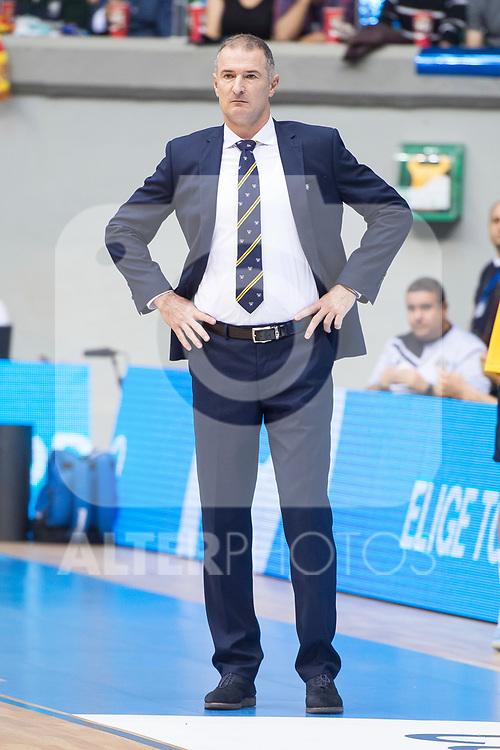 Iberostar Tenerife's coach Nenad Markovic during Liga Endesa match between San Pablo Burgos and Iberostar Tenerife at Coliseum Burgos in Burgos, Spain October 01, 2017. (ALTERPHOTOS/Borja B.Hojas)