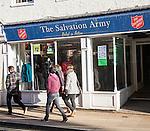 The Salvation Army charity shop, Upper Brook Street, Ipswich, Suffolk, England