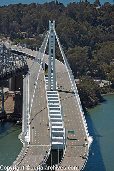aerial photograph eastern span tower San Francisco Oakland Bay Bridge
