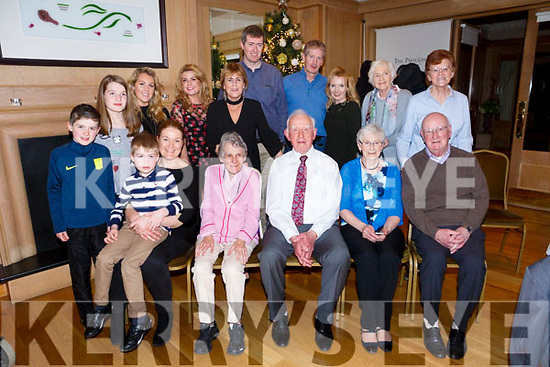 At the Ballygarry Hotel Christmas Tea Dance Club on Sunday was Paddy Brosnan, St. Brendans Park Tralee celebrating his 90th birthday with family