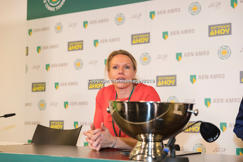 Rotterdam, The Netherlands, 11 Februari 2019, ABNAMRO World Tennis Tournament, Ahoy, Press Conference, Draw Wheelchair Tennis, Esther Vergeer,<br /> Photo: www.tennisimages.com/Henk Koster