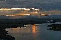 Sunset on Lake Pueblo. July 2014. 86190
