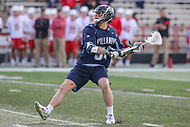 College Park, MD - March 18, 2017: Villanova Wildcats Jake Froccaro (54) scores a goal during game between Villanova and Maryland at  Capital One Field at Maryland Stadium in College Park, MD.  (Photo by Elliott Brown/Media Images International)