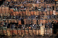 Back Bay row houses Boston Massachusetts