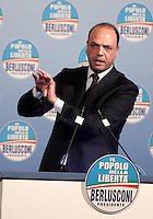 Il segretario del Popolo della Liberta' Angelino Alfano durante l'incontro con i candidati alle prossime elezioni politiche, a Roma, 25 gennaio 2013..Italian People of Freedom center-right party's secretary Angelino Alfano speaks during a meeting with candidates ahead of the upcoming political elections, in Rome, 25 January 2013..UPDATE IMAGES PRESS/Riccardo De Luca