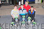 MY PROJECT: Member's of the KDYS My Project road safety and drug awareness at the Square, Tralee on Saturday l-r: Patrick O'Brien, Anthony Quilligan, Peter O'Brien and Daniel Murphy.