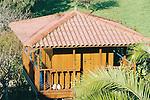 typical asturian wooden barn calles &quot;h&oacute;rreo&quot;<br /> <br /> h&oacute;rreo asturiano<br /> <br /> typischer asturischer Getreidespeicher aus Holz, genannt Horreo<br /> <br /> 3360 x 2240 px<br /> Original: 35 mm