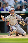 10 September 2006: Brian Schneider, catcher for the Washington Nationals, in action against the Colorado Rockies. The Rockies defeated the Nationals 13-9 at Coors Field in Denver, Colorado...Mandatory Photo Credit: Ed Wolfstein.