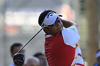 Kiradech Aphibarnrat (THA) tees off the 1st tee during Thursday's Round 1 of the 2018 Turkish Airlines Open hosted by Regnum Carya Golf &amp; Spa Resort, Antalya, Turkey. 1st November 2018.<br /> Picture: Eoin Clarke | Golffile<br /> <br /> <br /> All photos usage must carry mandatory copyright credit (&copy; Golffile | Eoin Clarke)