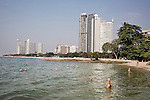 The beach at the end of Nakluea Soi 18 in Northern Pattaya, where most German tourists go to hangout and spend time during the day with the Thai prostitutes they pick up. <br />