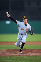 West Virginia Black Bears starting pitcher James Marvel (12) during a game against the Batavia Muckdogs on June 28, 2016 at Dwyer Stadium in Batavia, New York.  Batavia defeated West Virginia 3-1.  (Mike Janes/Four Seam Images)