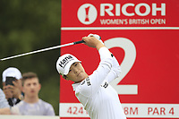 Sung Hyun Park (KOR) on the 2nd tee during Round 3 of the Ricoh Women's British Open at Royal Lytham &amp; St. Annes on Saturday 4th August 2018.<br /> Picture:  Thos Caffrey / Golffile<br /> <br /> All photo usage must carry mandatory copyright credit (&copy; Golffile | Thos Caffrey)