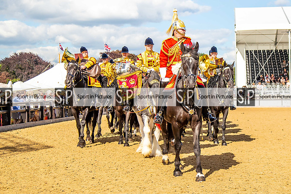 Day 2. Royal Windsor Horse Show. Windsor. Berkshire. UK.  The Mounted Band of the Household Cavalry. Behind the scenes. Musical ride. Director of Music. Major Craig Hallatt. 10/05/2018. ~ MANDATORY Credit Elli Birch/Sportinpictures - NO UNAUTHORISED USE - 07837 394578