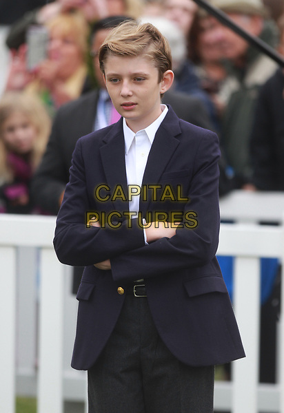 WASHINGTON, DC - APRIL 2: Barron Trump at the Annual White House Easter Egg Roll on the South Lawn of the White House in Washington, DC on April 2, 2018. <br /> CAP/MPI34<br /> &copy;MPI34/Capital Pictures