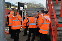 Stewards during Stevenage vs Cambridge United, Sky Bet EFL League 2 Football at the Lamex Stadium on 14th April 2018