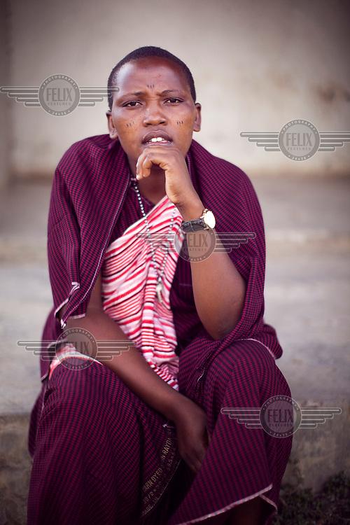 Survivor of FGM (female genital mutilation) Naito Nagoto, 19, at the Noonkondin Secondary School run by Gemma Enolengila and Lesikar Olengila.