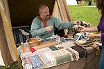 Textile display, Historical re-enactment Saxon, Viking, Norman history, Woodbridge, Suffolk