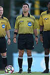 13 September 2016: Referee Carmen Serbio. The University of North Carolina Tar Heels hosted the East Tennessee State University Buccaneers at Fetzer Field in Chapel Hill, North Carolina in a 2016 NCAA Division I Men's Soccer match. ETSU won the game 1-0 in sudden death overtime.