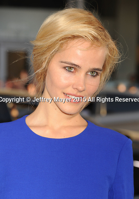 HOLLYWOOD, CA - APRIL 16: Actress Isabel Lucas arrives at the Los Angeles premiere of 'The Water Diviner' at the TCL Chinese Theatre IMAX on April 16, 2015 in Hollywood, California.
