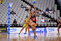 Hellers Mainland&rsquo;s Kelsey Ashworth in action during the Beko Netball League - Central Manawa v Hellers Mainland at Fly Palmy Arena, Palmerston North, New Zealand on Sunday 10 March 2019. <br /> Photo by Masanori Udagawa. <br /> www.photowellington.photoshelter.com
