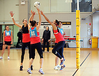 24.08.2016 Silver Ferns Phoenix Karaka in action during the Silver Ferns Training in Auckland. Mandatory Photo Credit ©Michael Bradley.