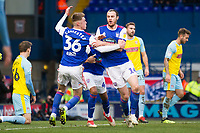 New signing Will Keane of Ipswich Town celebrates his opening goal for the hosts during Ipswich Town vs Rotherham United, Sky Bet EFL Championship Football at Portman Road on 12th January 2019