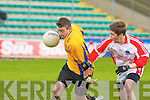 Chorca Dhuibhne's Cathal O? Lu?ing and Tralee CBS's Kyle Fitzgibbon.