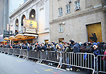 Students before the Gilder Lehman Institute of American History Education Matinee of 'Hamilton' at the Richard Rodgers  Theatre on December 15, 2016 in New York City.