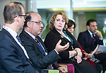 "BRUSSELS - BELGIUM - 24 November 2016 -- European Training Foundation (ETF) Conference on ""GETTING ORGANISED FOR BETTER QUALIFICATIONS"" - Panel discussion: Making QFs work globally. -- Koen Nomden, Team Leader - Skills and qualifications recognition tools - DG Employment  Social Affairs and Inclusion; Loukas Zahilas, Head of Department - European Centre for the Development of Vocational Training (CEDEFOP), Department for VET Systems and VET Institutions; Helene Skikos, Policy Officer - DG Education and Culture; Moderator Anastasia Fetsi, Head of Operations Department ETF; Malik Althuwaynee, Senior Consultant - Complete Media Solution/ National Qualifications Authority- UAE. -- PHOTO: Juha ROININEN / EUP-IMAGES"