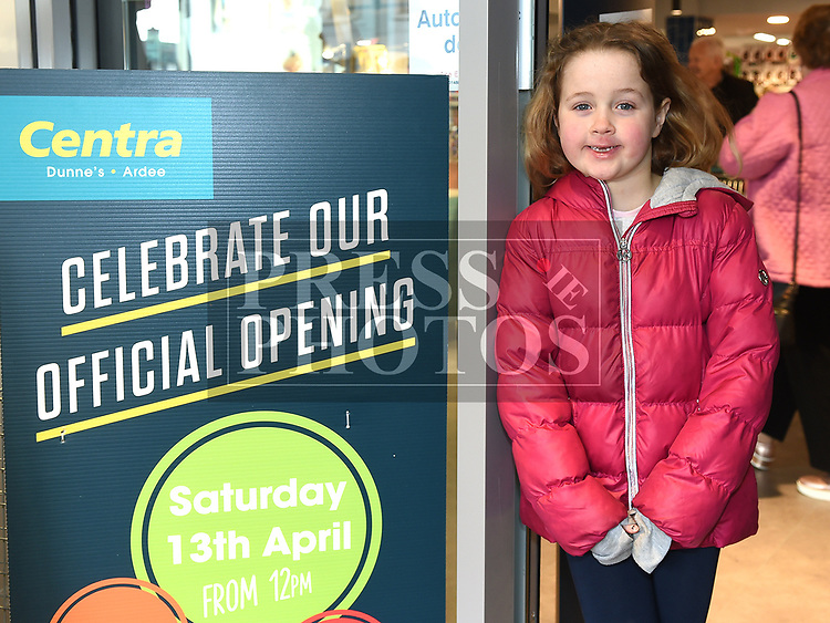 Uná Lynch at the opening Dunne's Centra Ardee. Photo:Colin Bell/pressphotos.ie