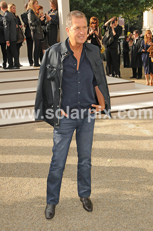 **ALL ROUND PICTURES FROM SOLARPIX.COM**                                             **WORLDWIDE SYNDICATION RIGHTS**                                                                                  Caption: The Burberry 2011 catwalk show as part of London Fashion Week at Chelsea College of Art and Design, London, UK. 21 September 2010                                                                              This pic: Guest                                                                                            JOB REF: 12162 MSR       DATE: 21_09_2010                                                           **MUST CREDIT SOLARPIX.COM OR DOUBLE FEE WILL BE CHARGED**                                                                      **MUST AGREE FEE BEFORE ONLINE USAGE**                               **CALL US ON: +34 952 811 768 or LOW RATE FROM UK 0844 617 7637**